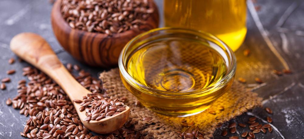 Leinsamen und Leinöl