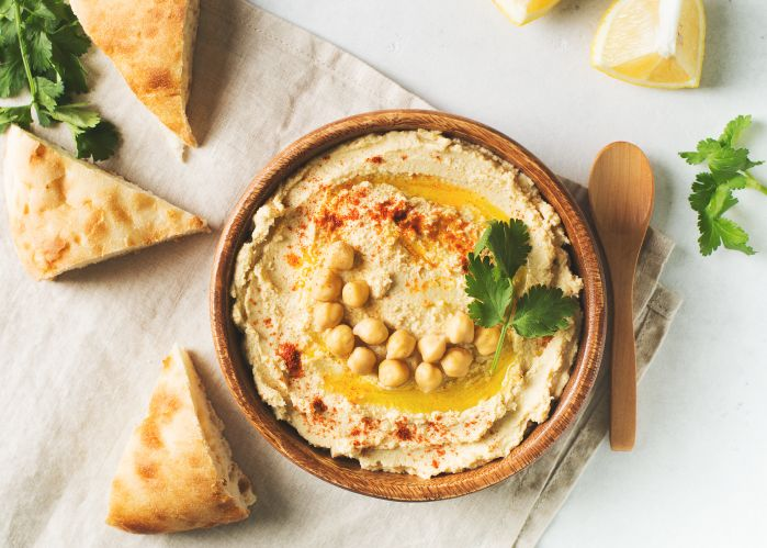 Hummus with beechnut oil