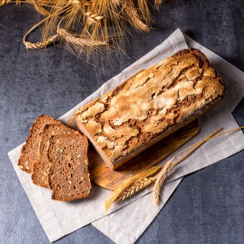 Protein bread with flaxseed flour
